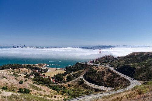 Fog over the bay