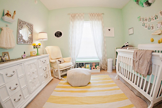 yellow-mint-nursery via on to baby
