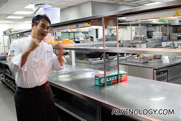 Chef Kelvin Low bringing us round his kitchen