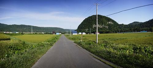 Quiet roads near Kamikawa (Hokkaido, Japan)
