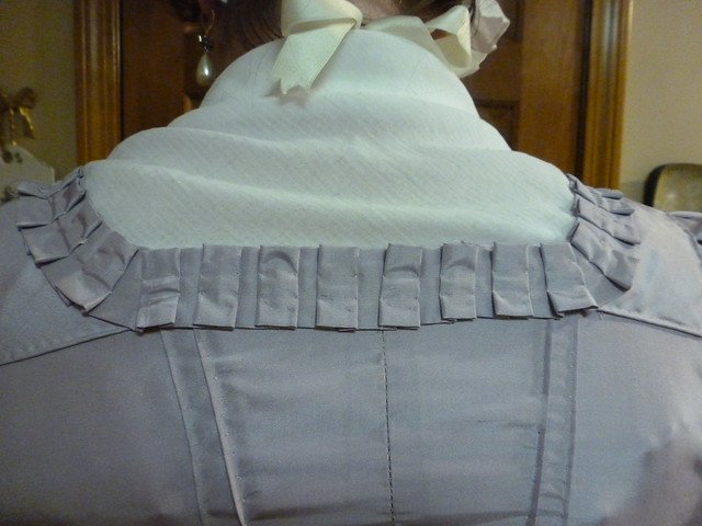 lavender silk taffeta English gown, 1770-1780