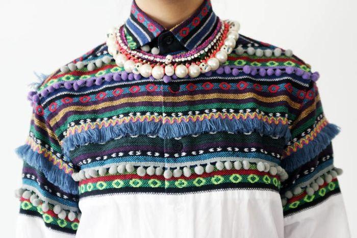 Christopher Shannon pom pom shirt