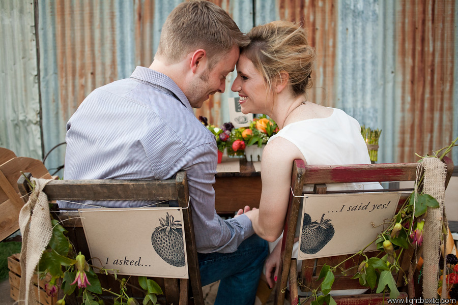 farmers market wedding chair sign