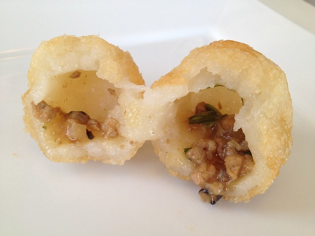Deep fried stuffed dumplings - Good Luck Dim Sum