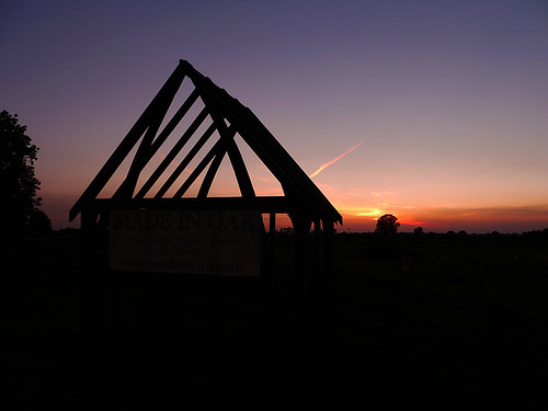 sunset silhouette watertower wiltshire malmesbury