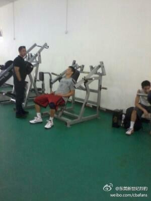 August 17th, 2012 - Jeremy Lin works out at the Dongguan New Century Leopards facility