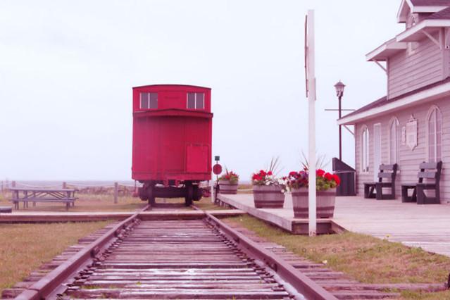 Vagón viejo Antigua estación del Tren