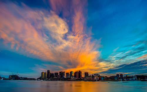 Epic Sunset Over Boston