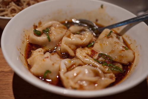 Chilli oil dumplings at Din Tai Fung