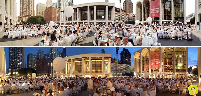 diner en blanc NYC 2012 lincoln center day to night