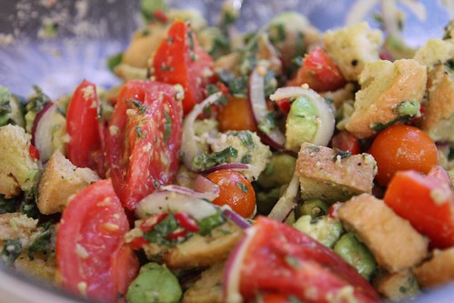 "Tomato and Avocado ""Panzanella"""