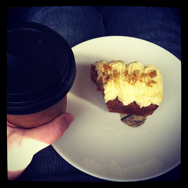 Afternoon tea :: sorted #cake #coffee