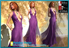 Paisley Daisy - Captivating Enigma Gown Purple