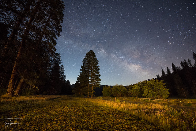 The Milky Way from Yosemite National Park