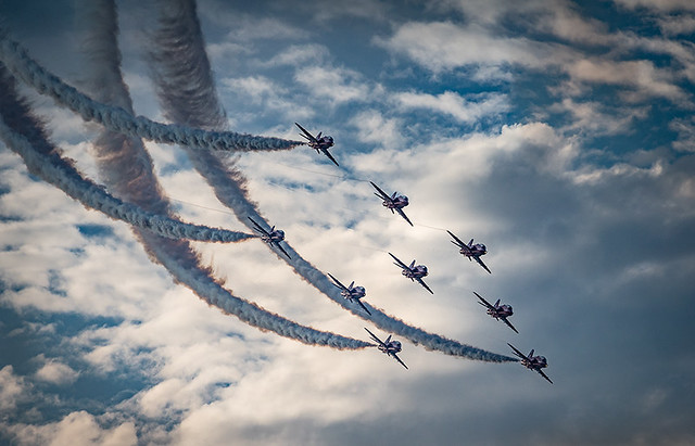The Red Arrows display team were back for Cowes Week 2016.