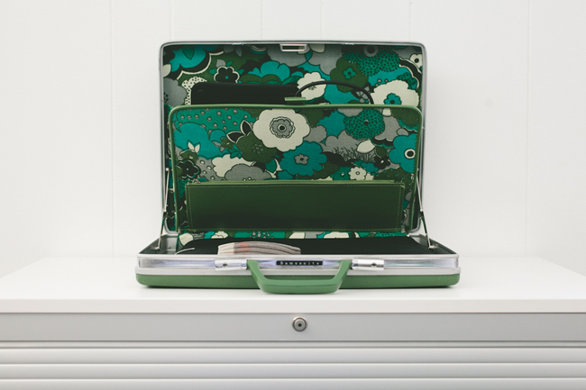 Glass and Sable James Abercrombie Home Closet Tool designer illustrator Atlanta Karla Jean Davis tool samsonite briefcase