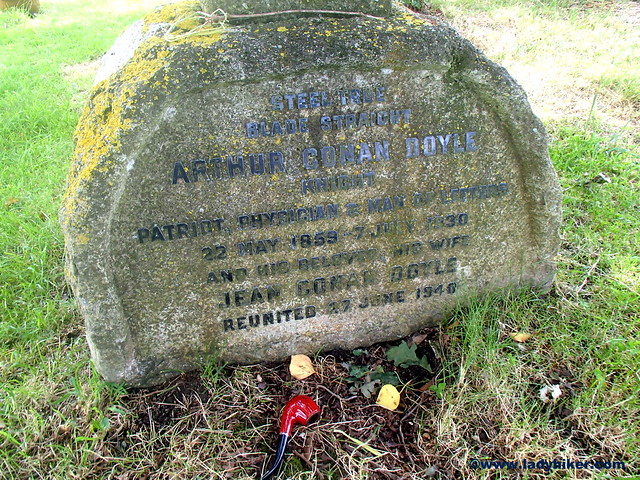 The grave of Sir Arthur Conan Doyle