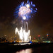 NYC 4th Of July Fireworks - Blues by Bob Jagendorf