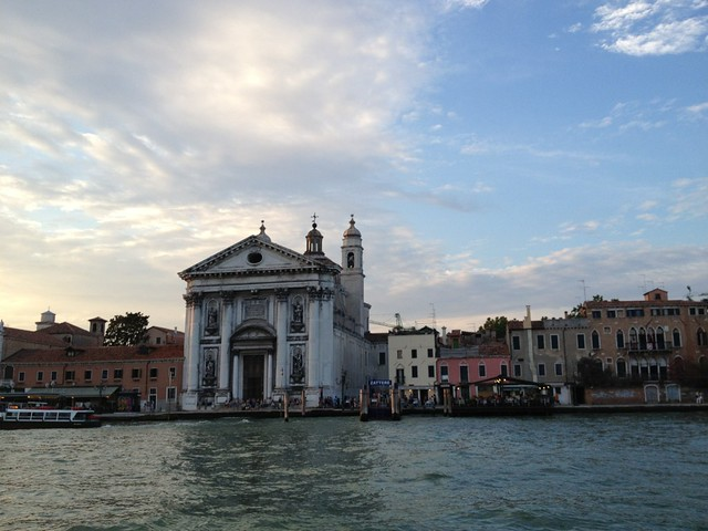 The view from the boat leaving Venice after our performance