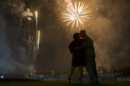 Fireworks over Cashman Field