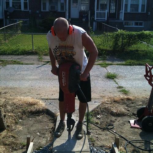 Jack hammer work!