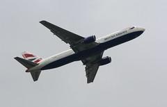 British Airways B767 G-BZHB