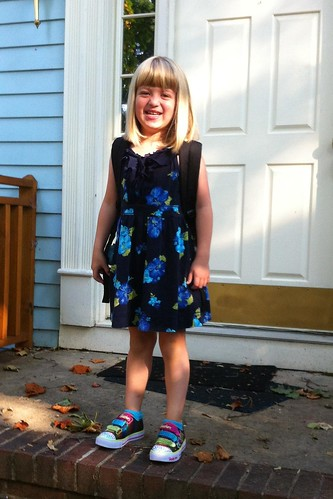 Catie on her first day of kindergarten!
