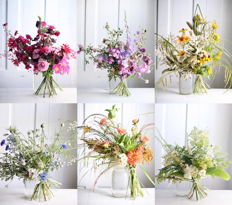 Amy merrick flower arranging class wildflowers at elmwood
