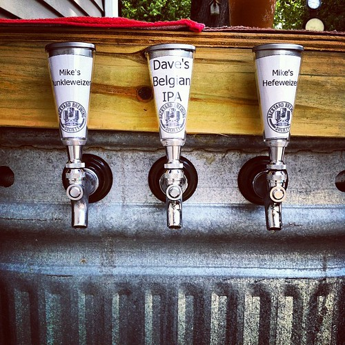 Outdoor Beer Dispensing in operation! #homebrew