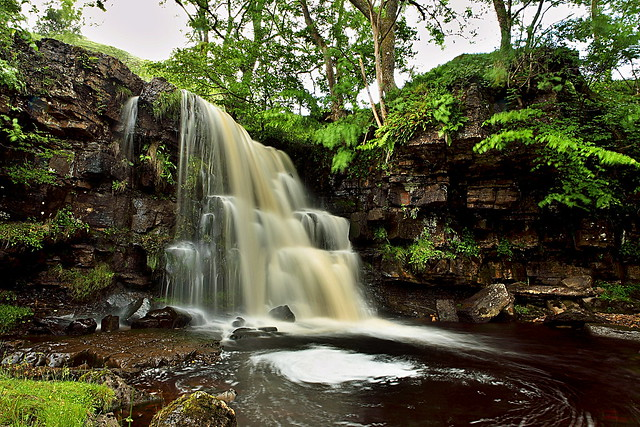 East Gill Force, Swaledale, Keld. Waterfall in the Yorkshire Dales