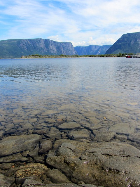 Crystal-Clear Water in Western Brook Pond