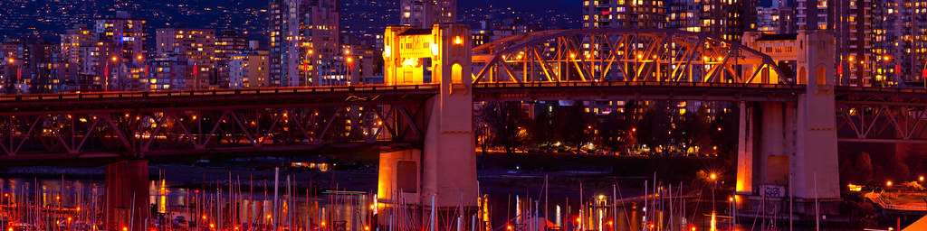 Vancouver's Burrard Street Bridge Pano 2008