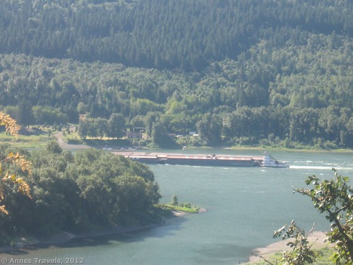 A barge on the Columbia River, Beacon Rock State Park, Washington