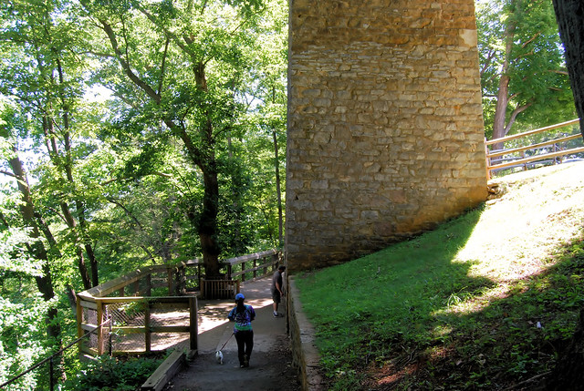 Shot Tower Historical State Park is open to the public occasionally to climb the tower, so call the office to inquire