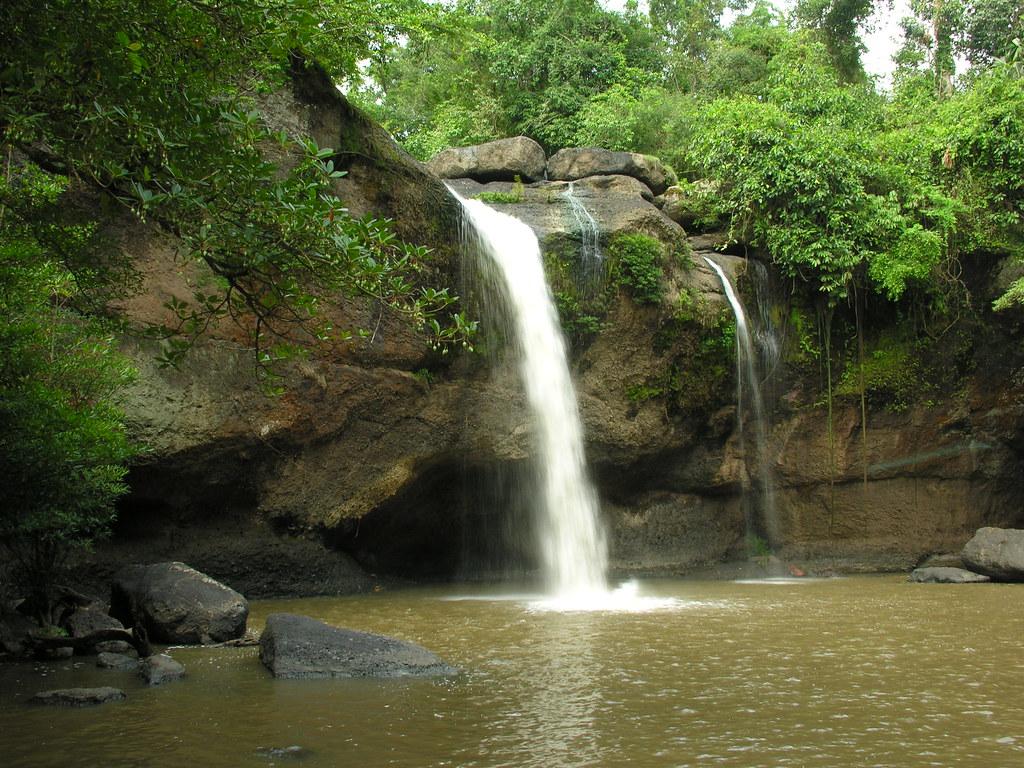 Heo Sawat waterfall, Khao Yai National Park, Thailand - a ...