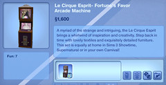Le Cirque Esprit- Fortune's Favor Arcade Machine