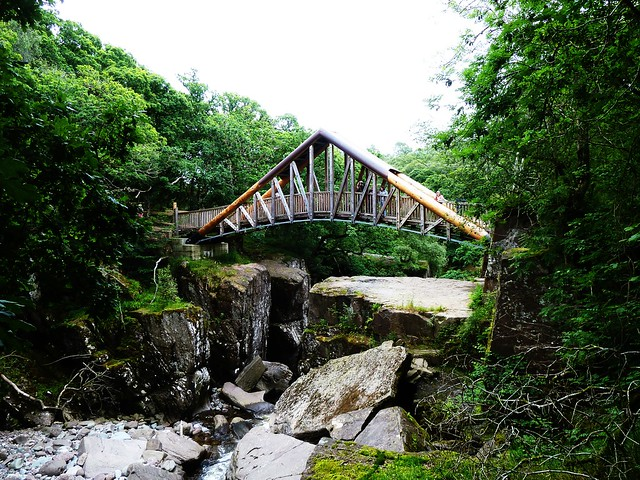 New Bridge at Bracklin Falls