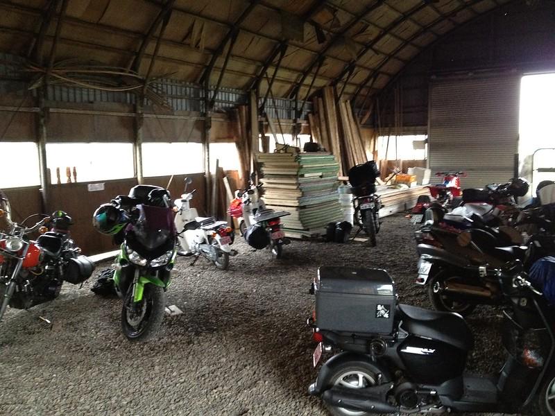 ライダーハウス クリオネに泊まっていたバイク