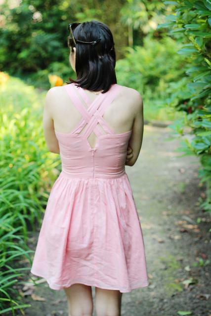 back pink dress