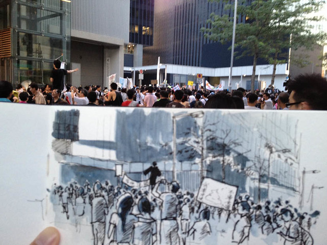 Anti-Communist's National Education Protest at Hong Kong Government Offices 反中共洗腦國民教育大遊行