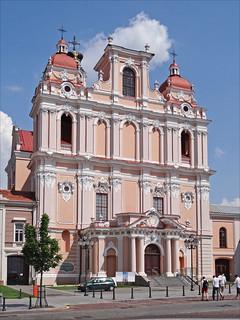 Imageof St. Casimir's Church. baroque église vilnius saintcasimir lituanie dalbera