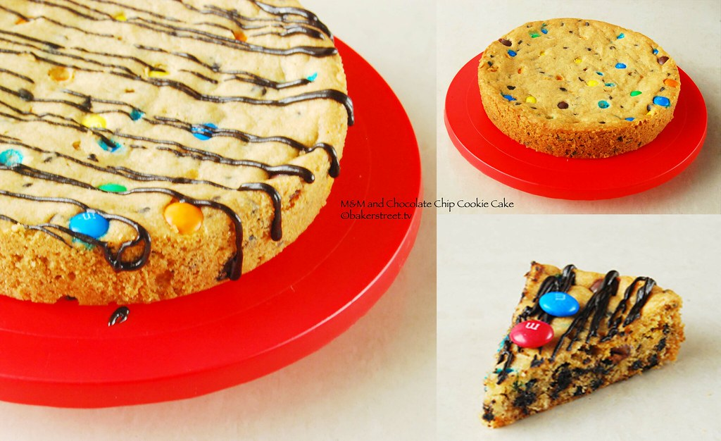 Baker Street : M&M and Chocolate Chip Cookie Cake