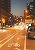Bike Lane At Night
