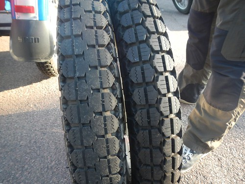The Urals pusher tire was ready for a change