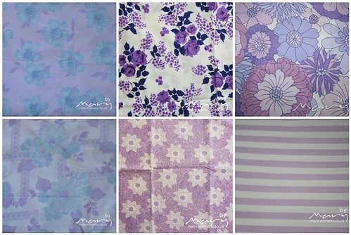 Vintage Sheets Purple Fat Quarter bundle