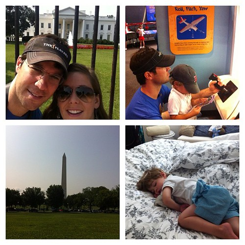 Road trip day 3...the White House, the monuments, Air and Space Museum, then out cold asleep...good day in DC