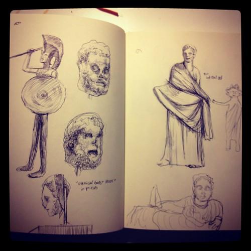 Sketchbook: sketches from the MET