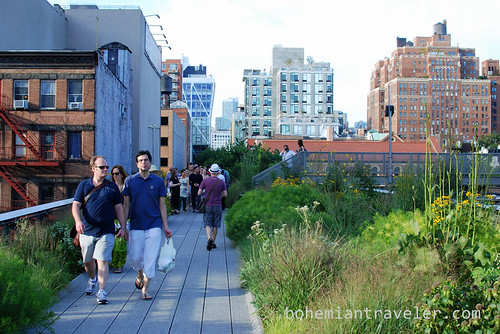 walking on the High Line