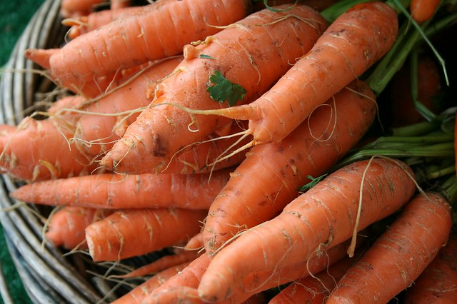 This is what real carrots look like ~ at the Montclair Farmers' Market