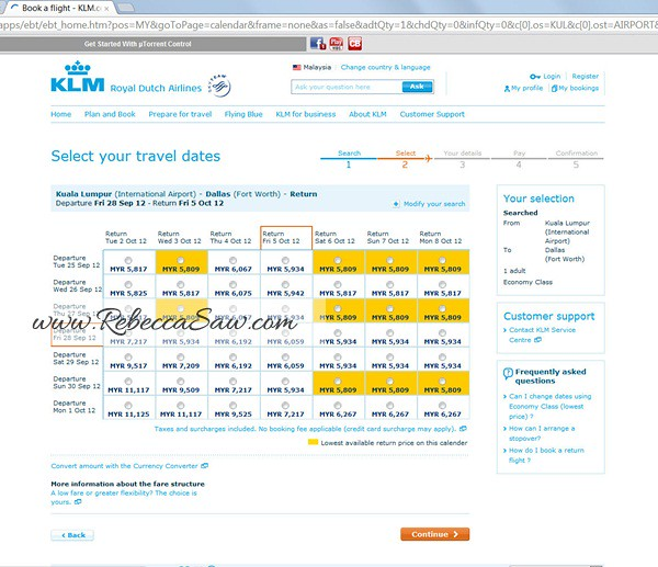 KLM travelpredictions com - Dallas